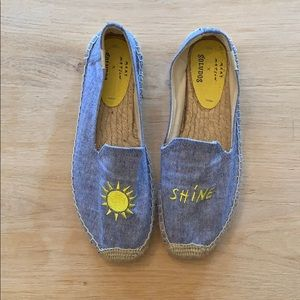 NEW embroidered soludos sun & shine denim blue